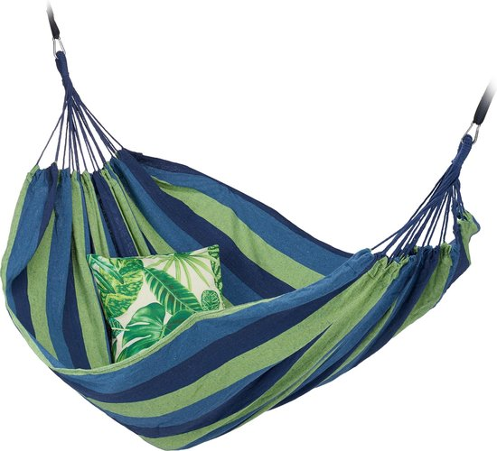 Relaxdays 2 Persoons Hangmat - tot 300 kg