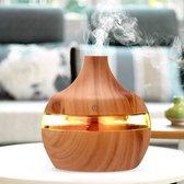 Aroma Diffuser 300 ml - Etherische Olie Verstuiver - Luchtbevochtiger - Houten design - Sfeervolle LED verlichting - Recalma Aromadiffuser - Ultrasoon - Vernevelaar - Geur versprijder