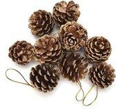 Kerstboom versiering | Decoratie | Hanger | Ornament | Dennenappel | Hout | Goud