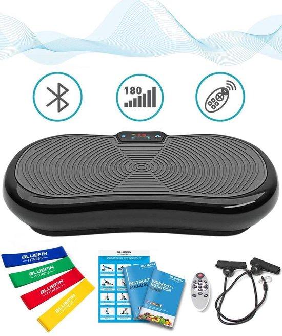 Bluefin Trilplaat | Hometrainer | Trilplaat Fitness | Bluetooth speaker | 5 programma's | 180 niveaus | Afstandsbediening