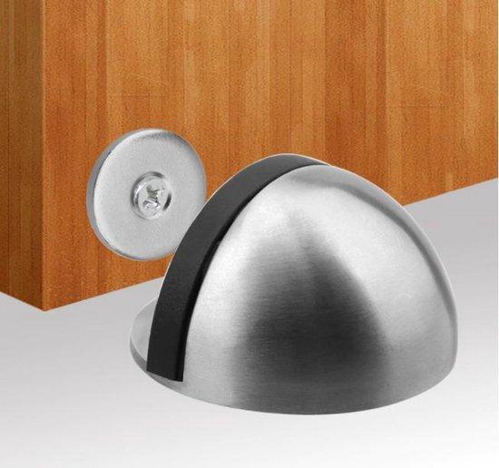 Deurstopper RVS - magnetisch - binnen - zelfklevende deurstop - Deurvastzetter