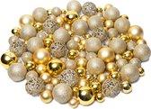 Kerstballen plastic – Kerstballen goud - Kerstballen set van 100 stuks