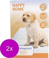Happy Home Trainingsmat - Zindelijkstraining - 2 x 100 stuks - 60X60 cm
