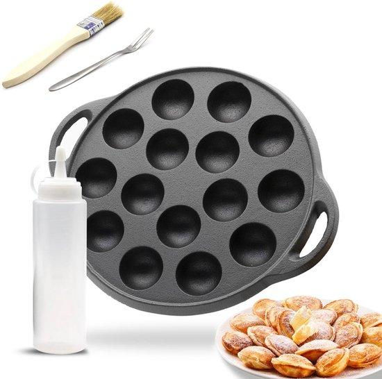 Poffertjespan - Geschikt voor alle fornuizen - Poffertjesmaker -...