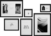 Deknudt Frames Fotowand - 6 zwarte fotokaders - S46YK2 WALL