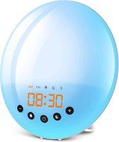 Greenure Wake Up Light - Wekker - Slaaptrainer - Wekkerradio - Nacht Lamp - 7 Kleuren - Wake Up Light Kinderen en Volwassenen - Leeslamp - Sfeerlamp