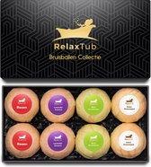Bruisballen Set van RelaxTub® - Bevat Natuurlijke Kokosboter en Arganolie - 8 x 80g XL Formaat - Bruisballen voor Bad - Dierproefvrij - Voor Ontspanning & Zachte Huid - Inclusief Luxe Cadeauverpakking
