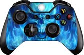 2 Xbox Controller Sticker | Xbox Controller Skin | Blue Skull | Xbox Controller Blue Skull Skin Sticker | 2 Controller Skins