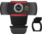 Elianzo Full HD Webcam voor PC - Incl. Microfoon en Webcam Cover - 1080p
