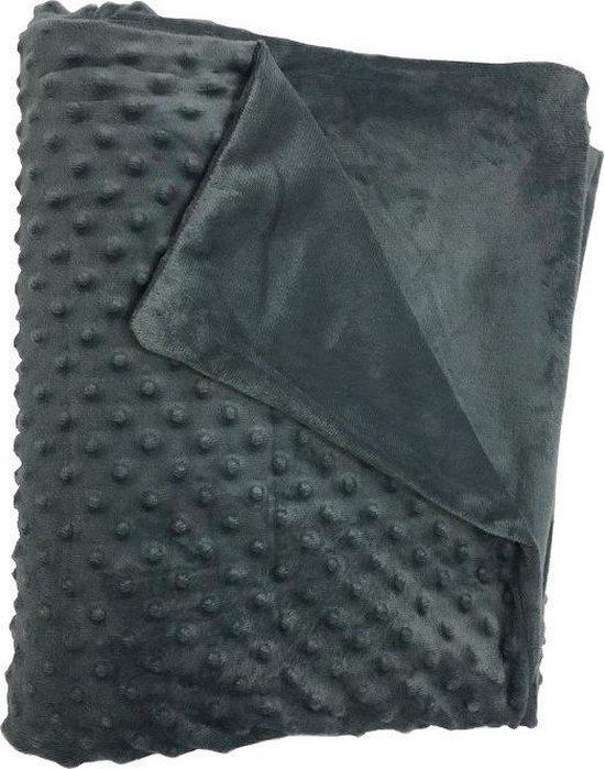 Luna Verzwaringsdeken - Fleece hoes - Weighted Blanket - Grijs - 150*200 cm
