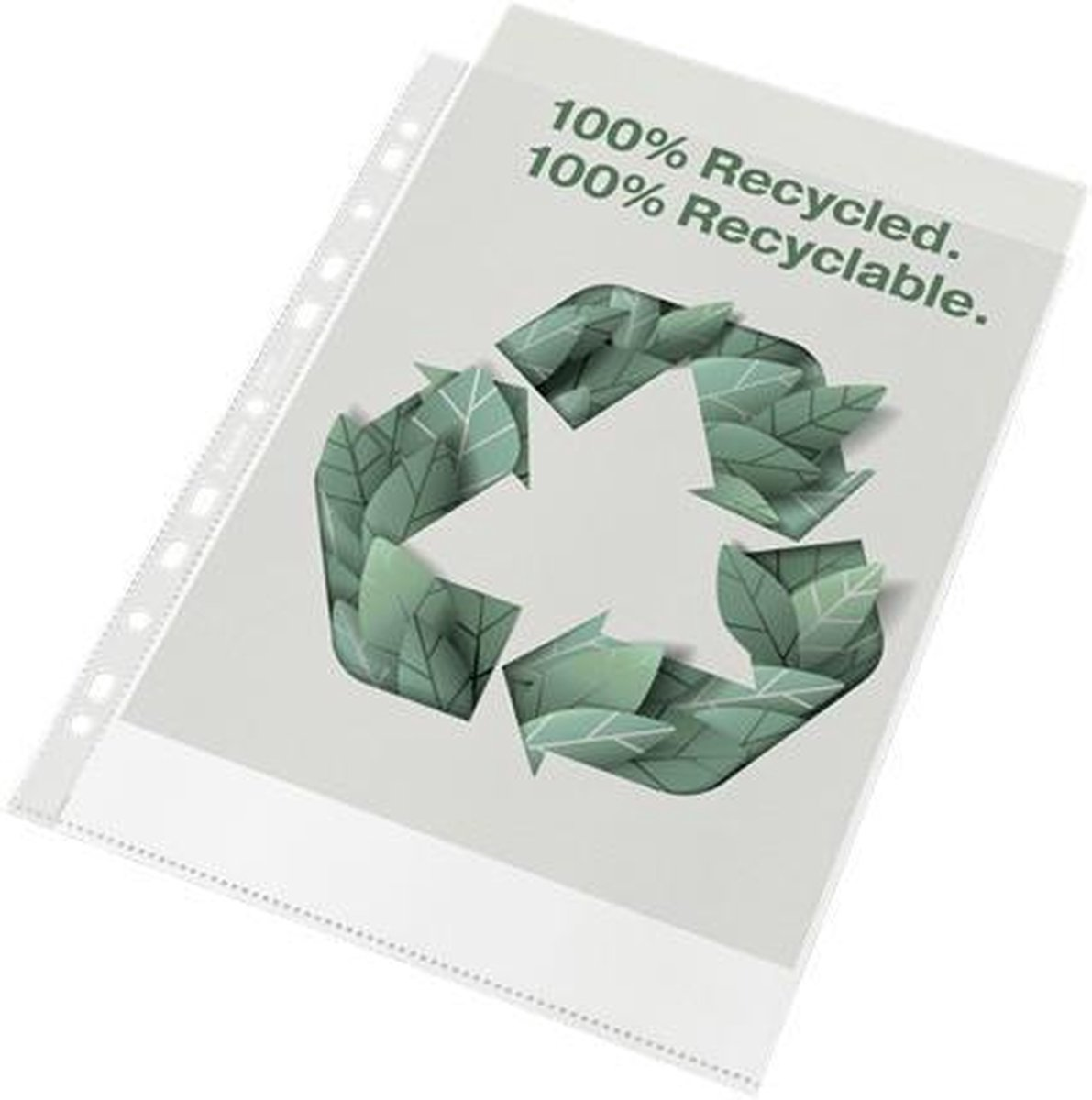 Esselte Showtas Recycled A4 PP OP100μ 50pcs cl