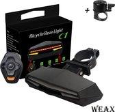 Fietsverlichting - Fiets Knipperlicht - Richtingaanwijzer Fiets - Remlicht - Grond Lasers - Extra Veiligheid - LED - USB Oplaadbaar - Extra krachtig - Waterbestendig - Afstandsbediening - Draadloos - Achterlicht Fiets
