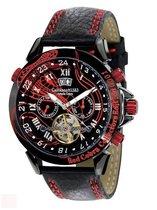 Calvaneo 1583 Calvaneo Astonia Red Cobra Collectors Edition -  Polshorloge - 46 mm - Zwart - Automatisch uurwerk