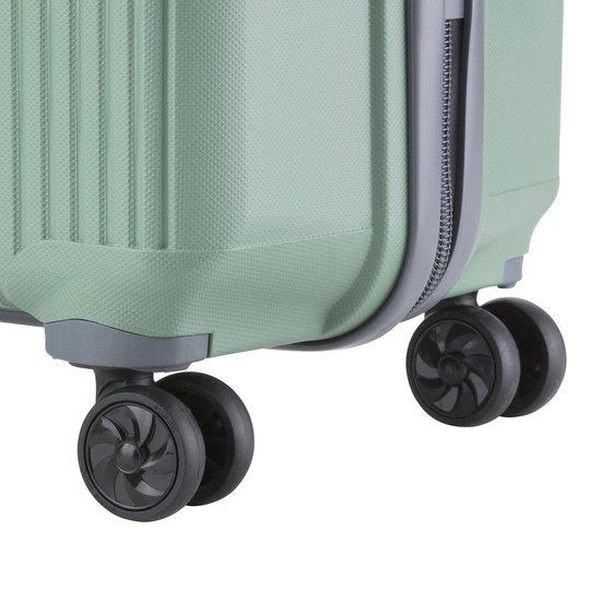 TravelZ Vertical reiskoffer - Luxe Middelgrote trolley 70cm - Volledig gevoerd - Olijf - Travelz