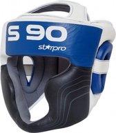 Hoofdbeschermer Super Pro Starpro S90 | zwart-wit-blauw XL