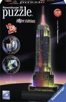 Ravensburger Empire State Building Night Edition - 3D Puzzel gebouw van 216 stukjes