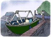 Dekzeil support frame boten