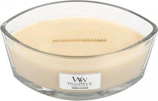 Woodwick Heartwick Flame Ellipse Geurkaars – Vanilla Bean