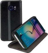 Stand case Zwart Book Style Flip case Telefoonhoesje Samsung Galaxy S6 Edge