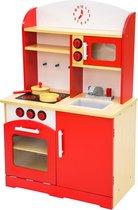 Kinderkeuken Speelkeuken uit hout Speelgoed rood 401235