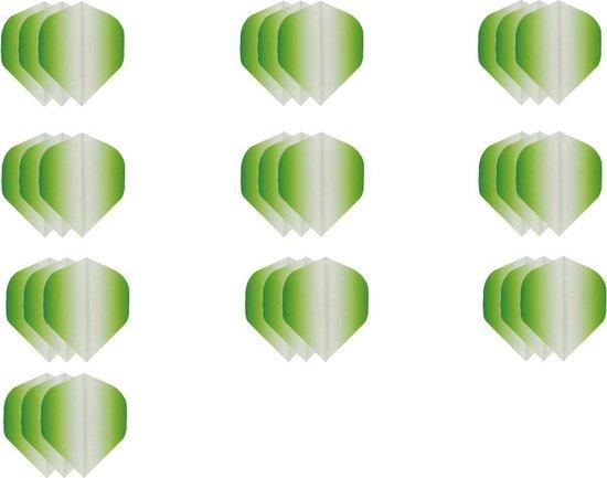 Dragon darts - Super Sterke Fade Side Groen - flights – 10 sets - dart flights - darts flights