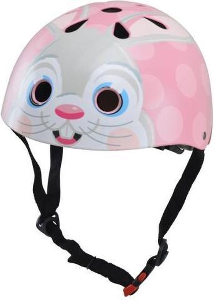 Skate- & fietshelm bunny pink | Kiddimoto