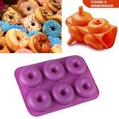 SupplyU - Donutvorm - Siliconen - Paars - 27x18x4cm
