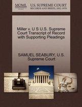 Boek cover Miller V. U S U.S. Supreme Court Transcript of Record with Supporting Pleadings van Samuel Seabury