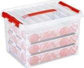 Sunware Q-line Kerstballen Opbergbox 22L - Trays voor 60 kerstballen