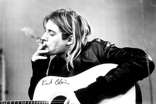 Kurt Cobain Nirvana Gitaar Grunge poster 61x91.5cm.