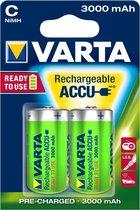 Varta oplaadbare batterijen Batterij NiMH C/LR14 1.2 V 3000 mAh R2U 2-blister