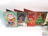 """Diamond Painting """"JobaStores®"""" *Special* Kerst Kaarten set (4 stuks)"""