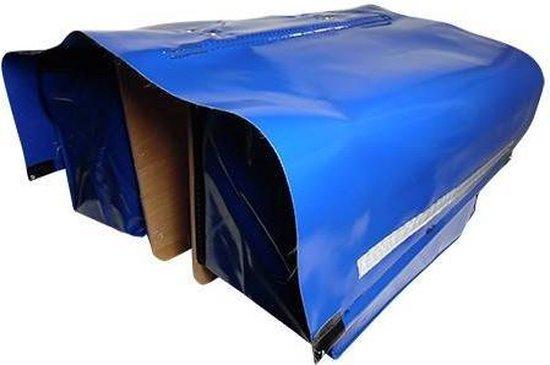 De Poort Luxe - Dubbele Fietstas - 90 l - Blauw