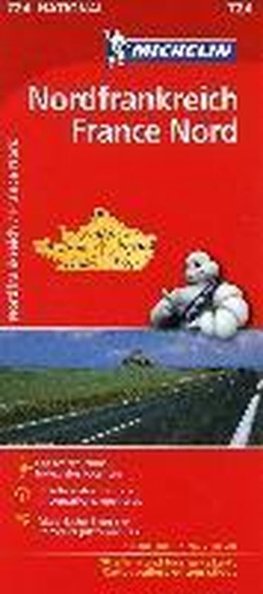 Michelin Nordfrankreich 1 : 1 000 000