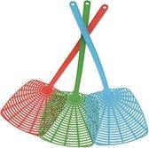 Extra Brede Ophangbare Kunststof Vliegenmepper Set - 3 Stuks | Diverse Kleuren Vliegenmeppers | Vliegen Meppen | Breed | Ophangen