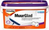 Alabastine Muurglad - Voor structuurmuren & glasvezelbehang - 10 liter