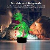 3D-nachtverlichting voor kinderen Kindernachtlamp Dinosaurusspeelgoed voor jongen 7 LED-kleuren Veranderende verlichting