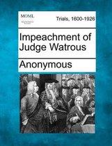 Impeachment of Judge Watrous