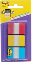 Afbeelding van Post-it® Index Strong, Blauw, Rood, Geel, 25.4 x 38 mm, 22 Tabs/Kleur/Dispenser