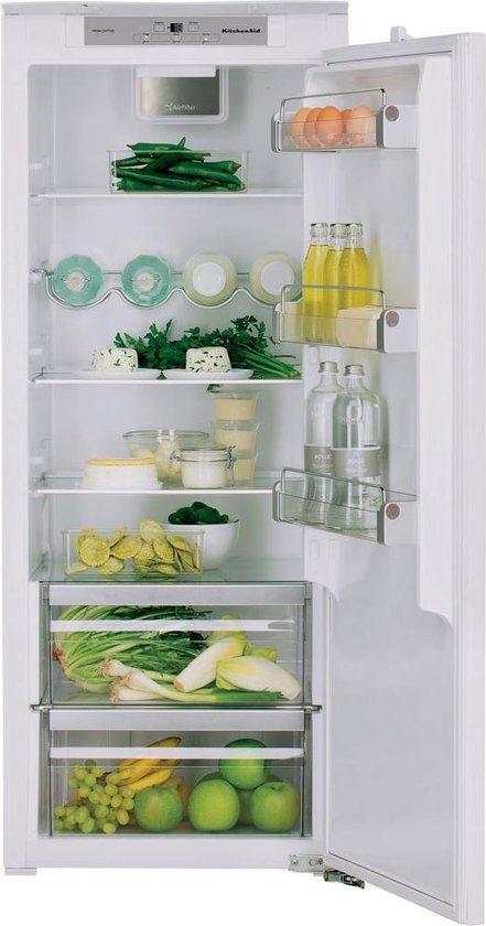 Koelkast: KitchenAid KCBNS14600 Inbouwkoelkast 240l A++ Wit koelkast 140cm, van het merk KitchenAid