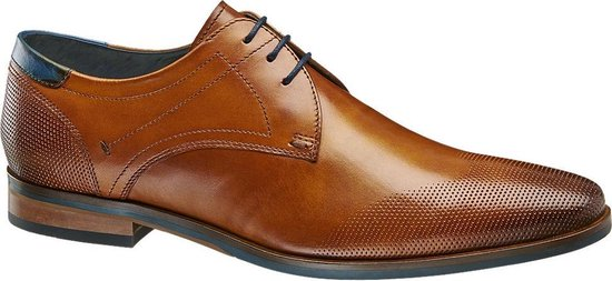 AM shoe Heren Bruine leren geklede veterschoen - Maat 43