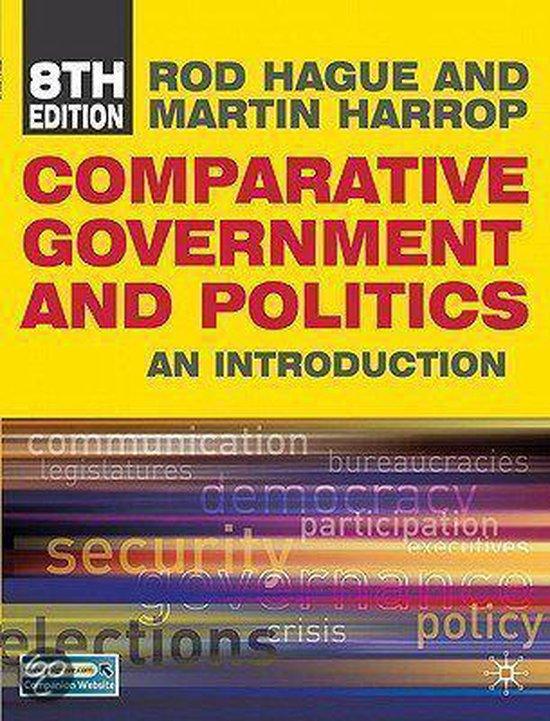 Boek cover Comparative Government and Politics van Rod Hague