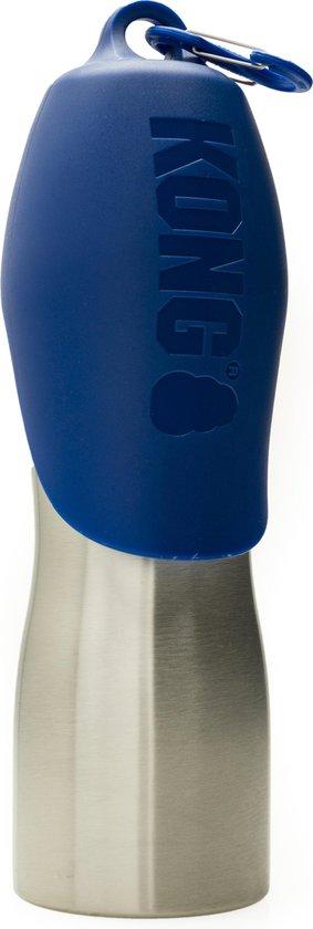 Kong H2O - RVS Honden Waterfles - Drinkfles Hond Voor Onderweg - Blauw - 750ML