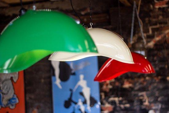 Vintage Vespa spatbord lamp groen