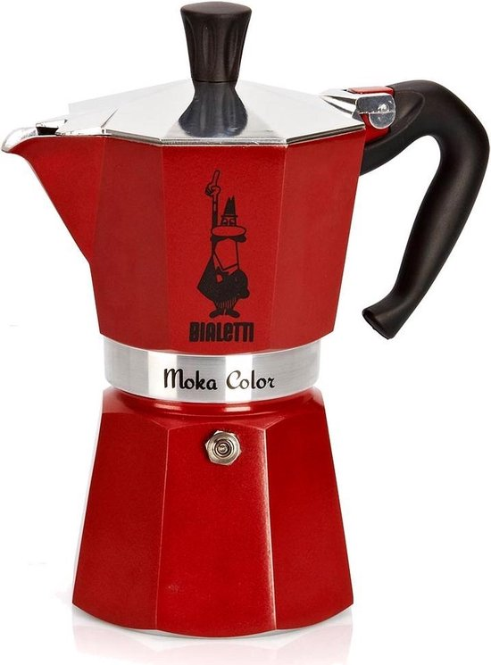 Bialetti Espressomaker - Moka Express - 3 kops - rood