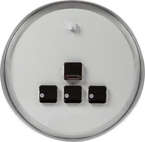 ALUMINIUM WERELDKLOK MET 3 TIJDZONES - Ø 45.5 cm