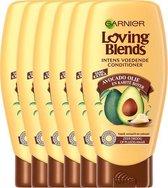 Garnier Loving Blends Conditioner - Avocado Olie & Karité boter - Droog of Pluizig Haar - Unisex - 6 x 250 ml - Voordeelverpakking