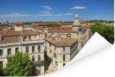 Uitzicht over de stad Nîmes in Frankrijk Poster 90x60 cm - Foto print op Poster (wanddecoratie woonkamer / slaapkamer) / Europese steden Poster