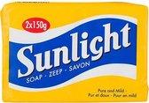 Sunlight Huishoudzeep - 2 consumentenverpakkingen inhoud 1 verpakking 2 stukken zeep van 150 gram