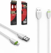 LDNIO LS04 USB oplaad kabel geschikt voor o.a iPhone 5 5S 5C SE 6 6S 7 8 Plus X XS XR Max iPod touch 5 6